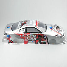1/10 1:10 RC Body Shell Painted PVC +Light Cup+Rear Wing On Road Drift Car 190MM