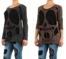 Markenlose Langarm Damen-Pullover aus Baumwollmischung