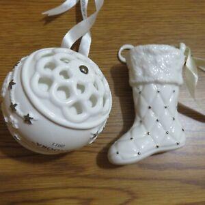 Pair of Pandora Christmas Ornaments 2011 & 2012