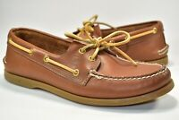 Sperry Top Sider Leather 2 Two Eye Moc Toe Boat Shoes Deck Mens Brown Size 10 M