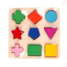 Wooden fraction shape puzzle toy for Montessori early  learning A63b  Baby Kids