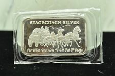 "1 OZ. .999 SILVER STAGECOACH BAR INGOT ""FOR WHEN YOU HAVE TO GET OUT OF DODGE"""