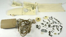 LOT Singer Golden Deluxe 750 parts- top cover w/ spool pin, pedal, needle plate