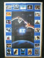 E.T. EXTRATERRESTRIAL MOVIE CHARACTER VINTAGE POSTER GARAGE 1982 COLLAGE CNG2393