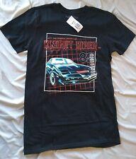 Licensed Knight Rider Authentic Retro T-Shirt Mens Sz Small S Black Tv Kitt 80's