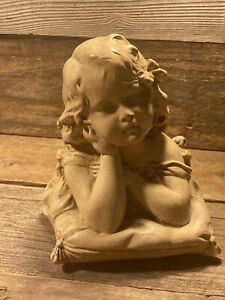 ANTIQUE  BISQUE YOUNG GIRL BUST, Made In Belgium Estate find