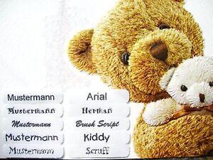 100 Wäscheschilder Namen Schild  Namensschilder Namensetiketten Kleidung Wäsche