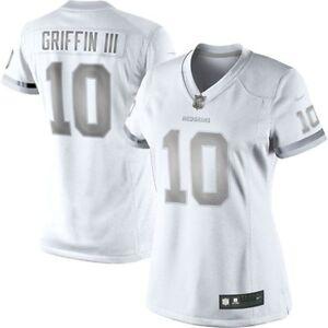 NFL Washington Redskins Nike Platinum Jersey (Robert Griffin lll) Size Large