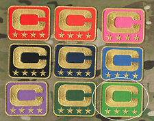 NFL TEAM LEADER JERSEY CAPTAINS PATCH FOUR-STAR 4-STAR GREEN CAPTAINS C-PATCH