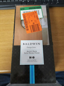 Baldwin Prestige Series Alcott Privacy Knob Satin Nickel 353ATKRDB15