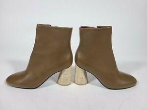 MERCEDES CASTILLO Brown Tomara Booties Boots