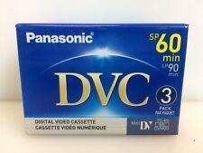 Pack of 3 Panasonic Dvc MiniDv Tapes Ay-Dvm60Ej3P - Made in Japan