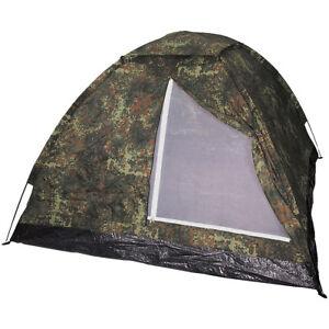MFH Large 3 Person Monodom Tent Camping Airsoft Fishing Festival Flecktarn Camo