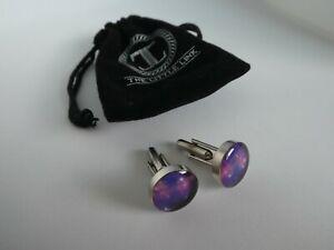 The Little Link Galaxy Purple Cuff Links Men's Accessories RP $25