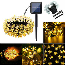 Solar Powered 50 LED String Lights Blossom Flower Garden Fairy Outdoor Lamp