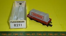 Wagon FLEISCHMANN Piccolo echelle N - Plat avec bâche - ref 8211 - TBE BO