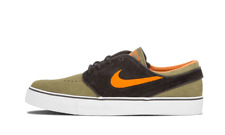 Nike SB x UNDFTD Stefan Janoski MEDIUM OLIVE GREEN SUEDE ORANGE 333824-280 sz 9