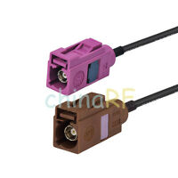 """Fakra female jack """"H"""" to """"F"""" female RF pigtail cable RG174 30cm for GPS Antenna"""