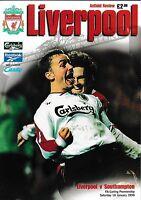 Football Programme>LIVERPOOL v SOUTHAMPTON Jan 1999