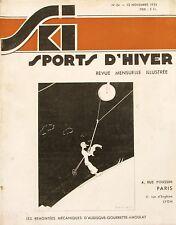 Ski Sport d'Hiver n°34 - 1935 - Saint Bon en Tarentaise - Le Home du skieur