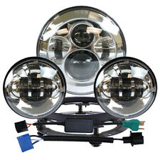 "*7"" LED Projector Daymaker Headlight+Pair 4.5"" Passing Lights for Harley Touring"
