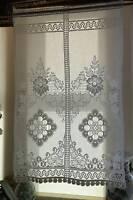 "Beautiful Scottish cotton lace panel 22""x 34"" drop Victoria Heritage panel small"