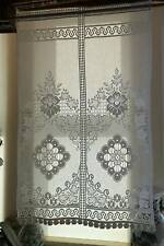 "Beautiful Scottish cotton lace panel 22""x 34"" drop Victoria Heritage panel small"