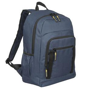 Mens Large Navy Blue Backpack & Rucksack Bag HIKING TRAVEL SPORTS WORK SCHOOL