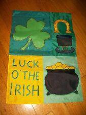 *Mini* Garden Flag Luck O' The Irish St Patrick'S Day March Decor Ireland