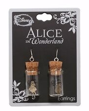 DISNEY ALICE IN WONDERLAND ALICE IN A JAR DANGLE  FISHHOOK DROP EARRINGS