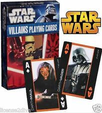 STAR WARS VILLAINS PLAYING CARDS SEALED VILLAINS FROM ALL 6 FILMS  IN ONE DECK