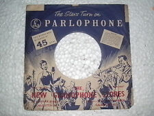 "6 ORIG PARLOPHONE RCA VICTOR CBS 45 RPM 7"" SINGLE RECORD VINYL  SLEEVE INDIA"
