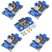 5PCS 5A Power CC/CV Step-down Adjustable Charge Module LED Driver With Voltmeter
