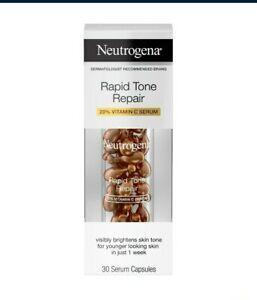 Neutrogena Rapid Tone Repair Vitamin C Brightening Serum Capsules, 30 Count