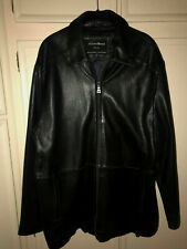 ARMAND BASSI MILAN SOFT BUTTERY LEATHER JACKET, SIZE MEDIUM