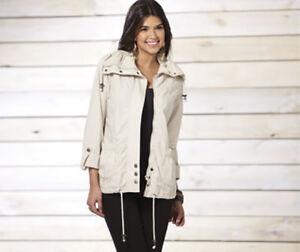 Brave Soul Stone Parka Jacket Coat - Size Small