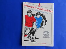 TAMWORTH v BLAKENALL 1985/86  West Midlands (Regional) League