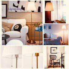 IKEA ARSTID Floor Lamp Nickel-Plated white  - Brass/white NEW