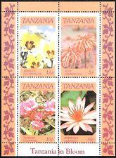(Ref-10873) Tanzania 1986 Flowers Tanzania in Bloom - Sheet SG.MS478 Mint (MNH)