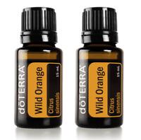 NEW doTERRA Wild Orange 15mlx2 Certified Therapeutic Essential Oil Aromatherapy