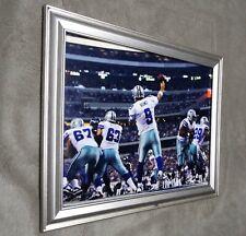 Dallas Cowboys Tony Romo Passing Action Endzone Framed 8x10 Photo