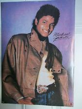 Vintage 1980's Michael Jackson Leather Jacket Poster - NEW!