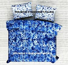 Indigo blue Comforter Cover Tie Dye Duvet Cover Shibori Quilt Cover set Queen