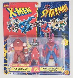 X-MEN vs SPIDER-MAN JUGGERNAUT v SPIDER-MAN WEB-PARACHUTE WITH SPIDER-MAN PIN