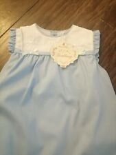 Girls Spanish Blue And White Dress Age 3 New With Tags