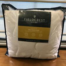 New Fieldcrest Luxury Plush Mattress Pad Down Alternative Fill