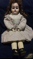 "Antique Handwerck bisque hands and head doll 20"""