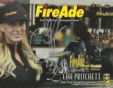 "2016 Leah Pritchett signed FireAde 2000 ""4th Version"" Top Fuel NHRA postcard"