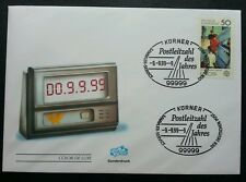 Germany 99999 Time Clock 1999 (date 9/9/99) (stamp FDC) *clean