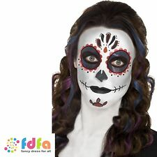 DAY OF THE DEAD SPANISH MAKE UP KIT FACE PAINT HALLOWEEN ladies mens fancy dress